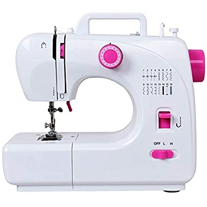 79a26f4c808 Costway Portable Sewing Machine Multifunctional 16 Built-in Stitch  Adjustable 2-Speed Automatic Thread