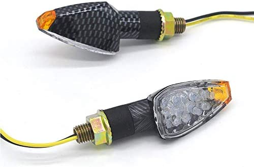 2pcs Mini Stalk Arrow Motorcycle LED s Indicators Blinkers Lights Fit