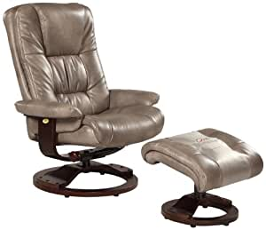 Bonded Leather Swivel, Recliner with Ottoman Cloud