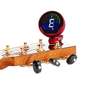 YAMIEJIA Professionelle Clip Digital-Tuner für Gitarre/Bass/Ukulele/Violine/Chromatic-Farbdisplay Große LCD 360 Grad