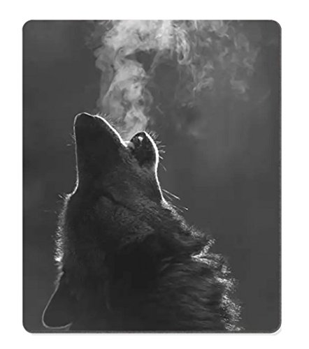 Smooffly Gaming Mouse Pad Custom,Winter Wolf Howling Non-slip Thick Rubber Large Mouse pad Mat