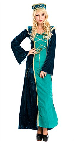 Muslims Women Robe Long Sleeved Dresses for Abaya Arab Turkish Arabian (Female Arabian Costume)