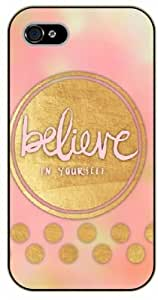 """iPhone 6 (4.7"""") Believe you can and you are halfway there - black plastic case / Life, dreamer's inspirational and motivational quotes"""