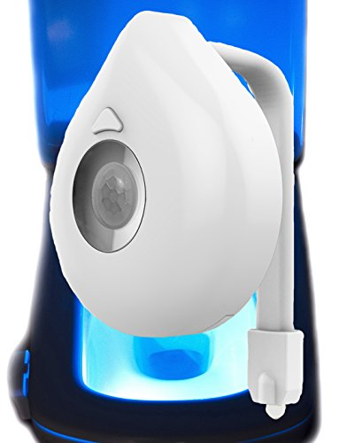 Toilet Bowl Light Motion Activated With Newest Premium Design by PROKITLINE- Fits Any Bowl - Best Quality Toilet Light - 8 LED Colors In One Device - Easy To Clean