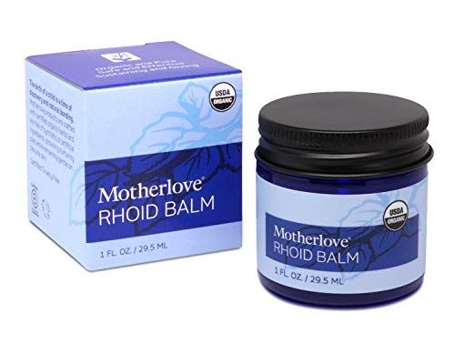 Motherlove - Rhoid Balm, Organic Perineal Balm to Help Reduce Swelling & Ease Itch of Hemorrhoids caused by Pregnancy and Childbirth, Relieves Sore Pregnant & Postpartum Bottom, 1 oz.