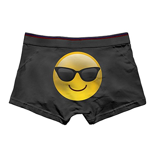 Rongyingst Men's Sunglasses Emoji Underwear Fashion Boxer Briefs Cotton Stretch Low Rise Trunks 3X - With Sunglasses Snapchat Emoji