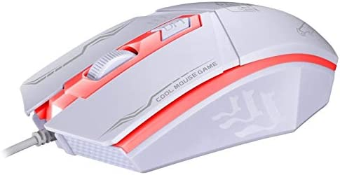 LYX 199 USB 1600DPI Three-Speed Adjustable LED Backlight Wired Optical Gaming Mouse Length: 1.3m Color : White Black 25/% Higher Effeciency for Office Work