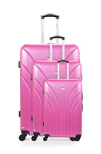 Rosa rígidos trolleys 3 ANTONELLE Segur Set de Rosa xqw8xp0IB