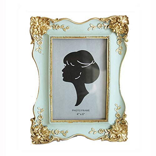 SIKOO Vintage Picture Frame 4x6 Antique Photo Frame Tabletop for Home Decor (Green)