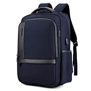 Male Business Backpack Nylon Waterproof College Men Student Schoolbag Computer Multifunctional Bag Travel USB Port Charging
