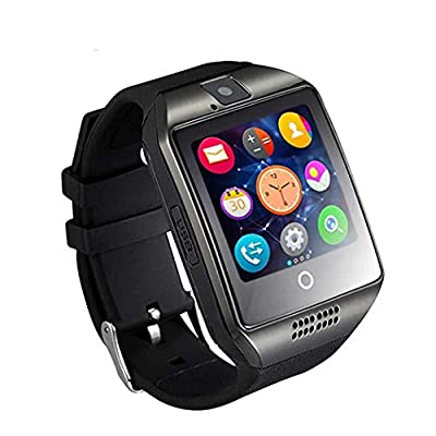 Smart Watch with Bluetooth Camera Music Player for IOS IPhone (Partial Functions) Android Samsung HTC Sony LG HUAWEI Smartphones