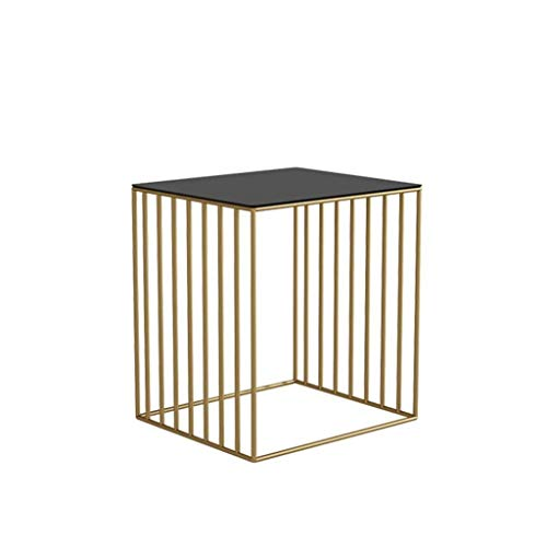 - Yxsd Rustic Side Table - Modern Industrial Design End Table, Nightstand, Bedside Or Telephone Table - Lounge, Dining Or Living Room Furniture (Color : Gold)