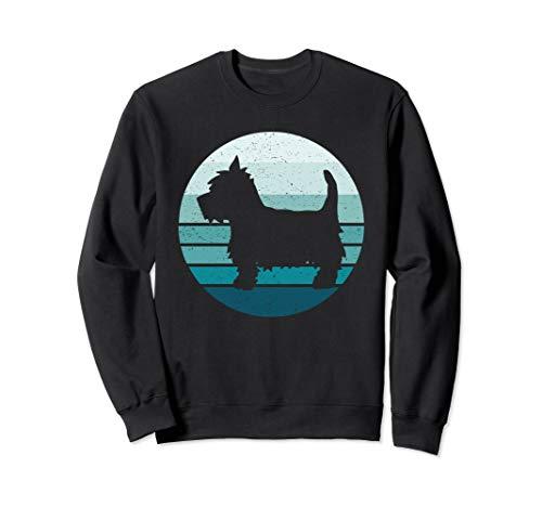 Retro Yorkie Moon Yorkshire Terrier Silhouette Vintage Sweatshirt