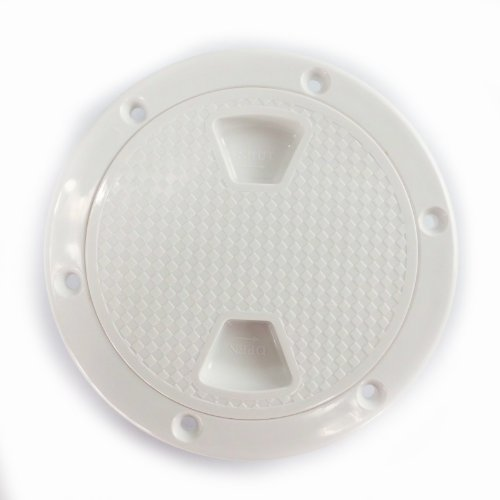 SEAFLO 4'' Boat Round Non Slip Inspection Hatch w/ Detachable Cover by Seaflo