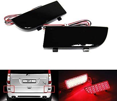 2 luces de freno traseras para parachoques delantero de color negro ahumado para Viano Vito W639 de 2003-14 MB: Amazon.es: Coche y moto