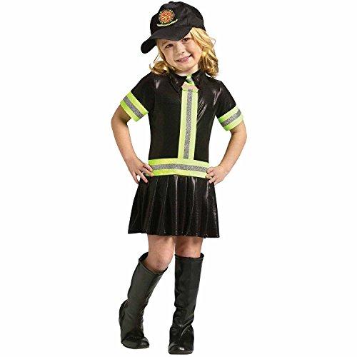 Fire Chief Fighter Woman Fireman Dress Child Girls Toddler Halloween Costume NEW