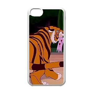 Disney Aladdin Character Rajah funda iPhone 5c caja funda del teléfono celular del teléfono celular blanco cubierta de la caja funda EEECBCAAB16643