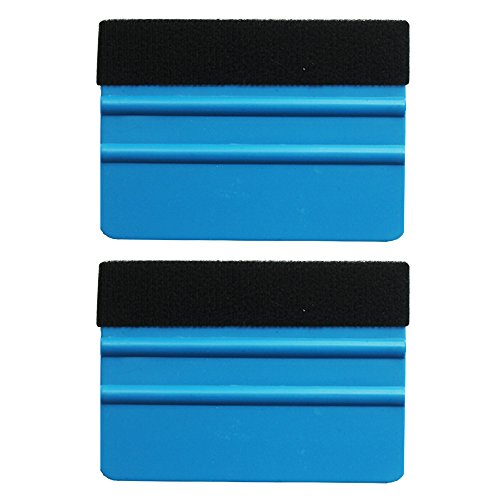 - EEFUN Durable Black Felt Edge Squeegee 4 Inch for Car Vinyl Film Wrapping Decal Squeegee Window Tint Work, Professional Scratch Free Squeegee. Pack of 2