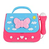Kids Karaoke Machine for Girls, Portable Karaoke Player Musical Bag with Microphone 3-6