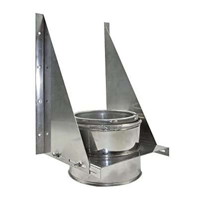 """Shasta Vent 8A-TS Shasta Vent 8"""" Tee Support all Fuel HT Chimney and Tee Support"""