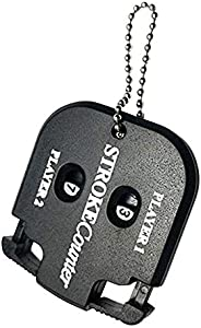 Golf Score Counter with Key Chain, Double Dial, Professional Golf Scoring Count Tool, Golf Stroke and Putt Sco