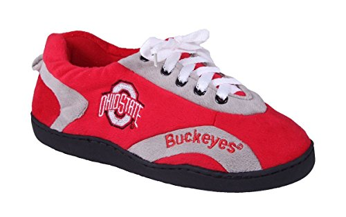 OHI05-4 - Ohio State Buckeyes - XL - Happy Feet Mens and Womens All Around Slippers