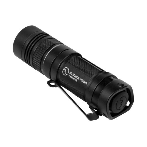 Sunwayman V11R Cree XM-L U2 Fully Variable LED Flashlight, Black