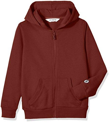Kid Nation Kids' Soft Brushed Fleece Zip-Up Hooded Sweatshirt Hoodie for Boys or Girls M Burgundy