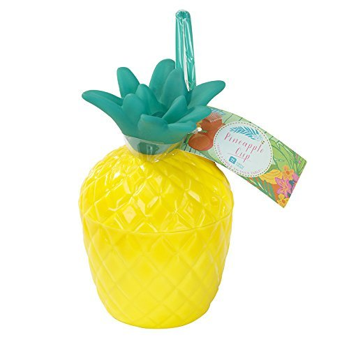 Talking Tables Tropical Party Plastic Pineapple Cup for a Summer or Luau Party, Multicolor ( Single Cup ) -
