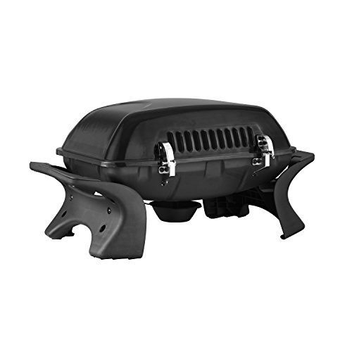 Royal Gourmet 2-burner Portable Tabletop Propane Gas Grill with Side Table, Black