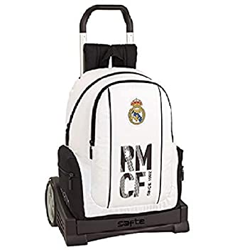 Real madrid cf Mochila con Carro Ruedas Evolution, Trolley.: Amazon.es: Equipaje