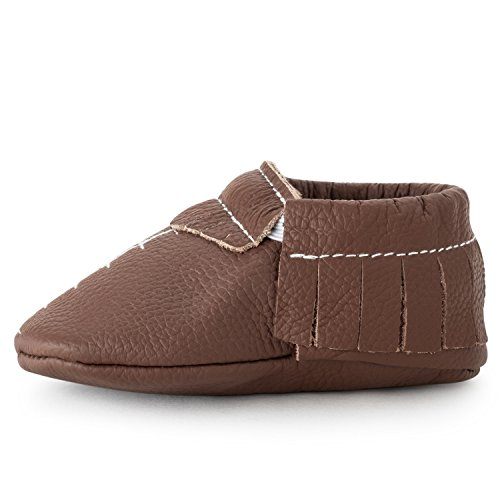 BirdRock Baby Moccasins - 30+ Styles for Boys & Girls! Every Pair Feeds a Child (US 2, Touchdown Football)