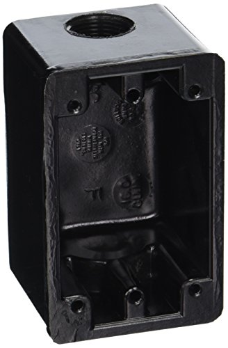 Hubbell Wiring Systems HBL6080OS Phenolic Weatherproof Marine Grade Dockside Box, 3/4