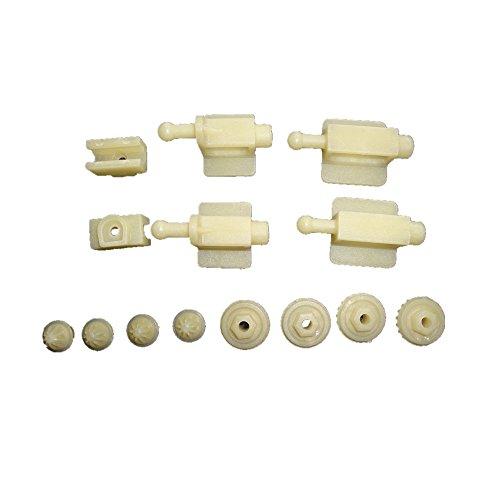 (Jaguar X-type X Type Headlamp Headlight Repair Kit Adjuster 2 SETS + GEARS)