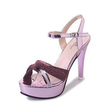 LvYuan Tacón Stiletto-Confort-Sandalias-Vestido Informal-Tejido-Rosa Oro Plata sliver