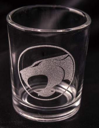 THUNDERCATS Inspired Logo Shot Glass Laser Engraved (Thundercat Shot Glass)