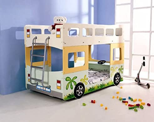 Kinderbett junge bus  Hochbett / Etagenbett Fantasy Bus: Amazon.de: Küche & Haushalt