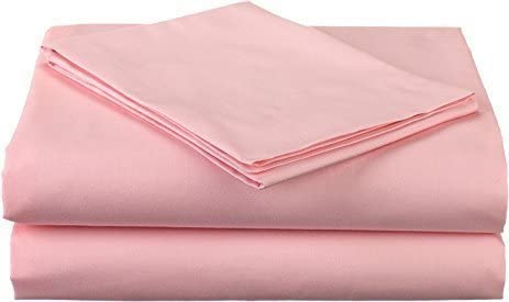 500 Thread Count 100/% Egyptian Cotton 4-Piece Sheet Set Full XL 54 X 80 Pink Solid Fits Mattress Upto 8 Inches Deep Pocket