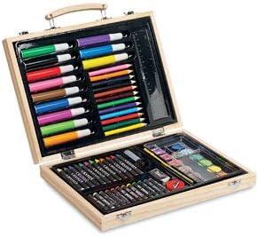 GARGOLA.ES OPERADORES DIGITALES Estuche de Pinturas en Caja de Madera. 66 Piezas. Medida 28x21x4,2 cm: Amazon.es: Juguetes y juegos
