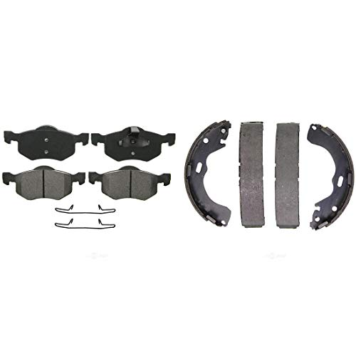(AutoDN Front and Rear Disc Brake Pads and Brake Shoes Set For FORD ESCAPE 2001-2004)
