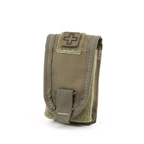 Eleven 10 Tourniquet/self-aid Pouch, Molle Malice Clips, Ranger Green - E10-1005M-RGR