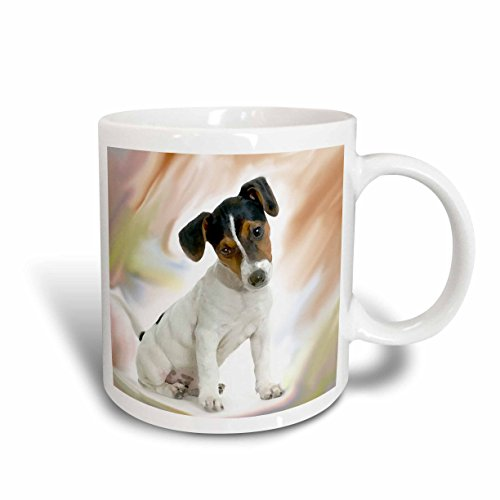 Russell Ceramic Mug (3dRose Jack Russell Terrier Ceramic Mug,)