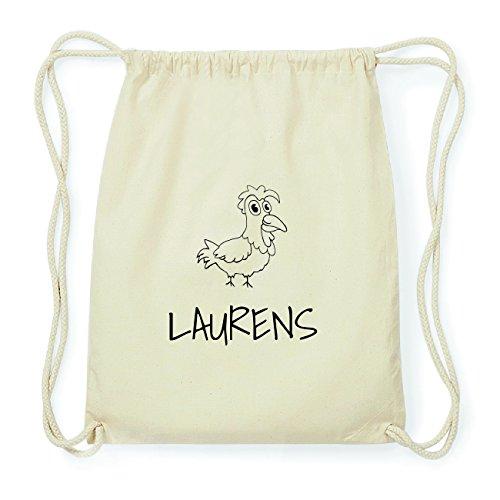 JOllipets LAURENS Hipster Turnbeutel Tasche Rucksack aus Baumwolle Design: Hahn