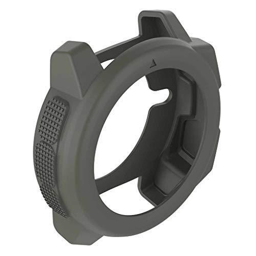 Tuscom Case for Garmin Instinct, Soft Ultra-Slim TPU Protection Silicone Rubber Case Cover Shockproof Protective Band Cover Sleeve for Garmin Instinct Smartwatch Case (Gray)