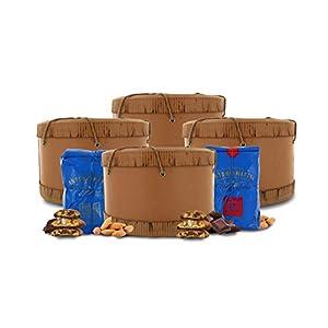 Cantucci alle Mandorle + Biscotti al Cioccolato Fondente in Cappelliera, Biscotti Toscani in Confezione Regalo - 500g x…