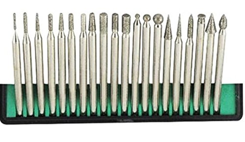 20pcs Solid Carbide Burr Set 0.118 Inch Shank Tungsten Carbide Rotary Files Burrs with 3mm Cutting Head diameter Fits Most Rotary Drill Die Grinder Perfect for Jewelry Repair/Woodworking/Engraving by JEWELS FASHION (Image #8)