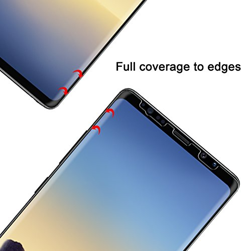 Samsung Galaxy Note 8 Screen Protector [2-Pack] - OMOTON [Cover Curved Edges] [Case Friendly] [High Responsivity] Wet Applied HD Screen Protector for Samsung Galaxy Note8