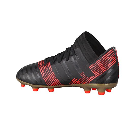 adidas Nemeziz 17.3 FG J, Botas de Fútbol Unisex Niños Negro (Negbas/Negbas/Rojsol 000)