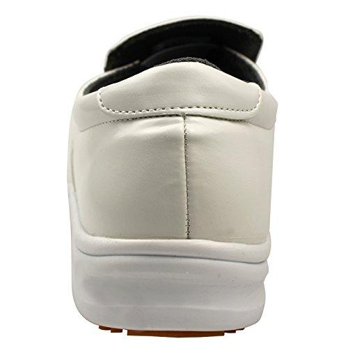 Ddtx Cuoco Scarpe Da Lavoro Scarpe Comode Pantofole Unisex-adulto Cucina Resistente Allolio E Antiscivolo Bianco