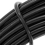 BeadSmith WCR-4103 11.8m Aluminum Craft Wire, Black, 12 gallon/39'